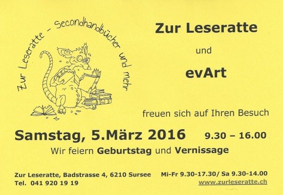 Vernissage Leseratte