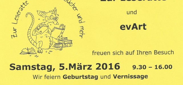 Vernissage im Secondhandbuchladen