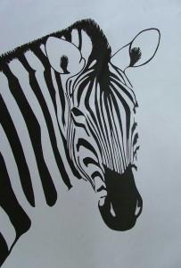 2002-010 Zebra Portrait
